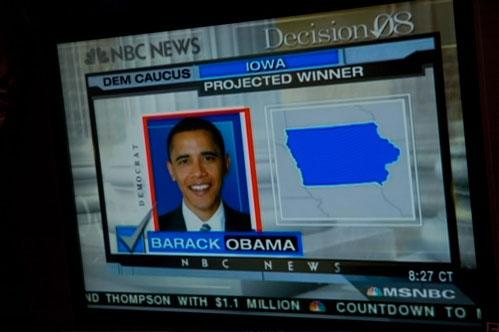 Barack Obama WinsIowa